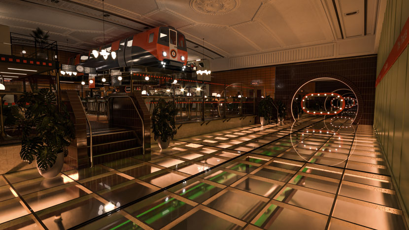 Subway Themed Bar Tracks